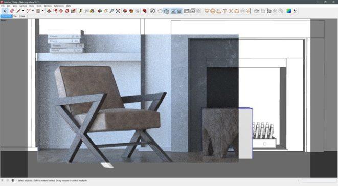 Визуализиране във вюпорта на SketchUp